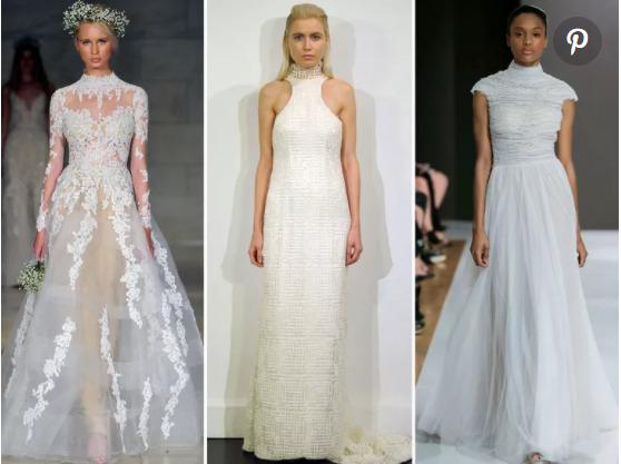 Váy cưới cao cổ