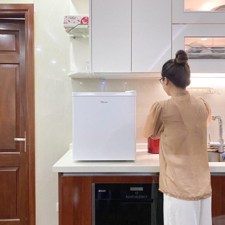 Công nghệ làm lạnh trên tủ lạnh mini khá đơn giản