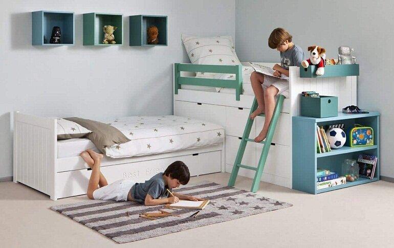 Chú ý thiết kế và cấu tạo của giường ngủ trẻ em bằng nhựa