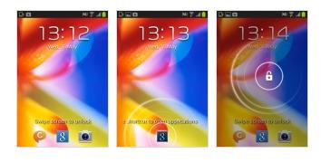 Khóa màn hình của Samsung Galaxy Young S6310.
