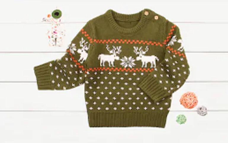 Áo len có họa tiết giáng sinh cho bé trai