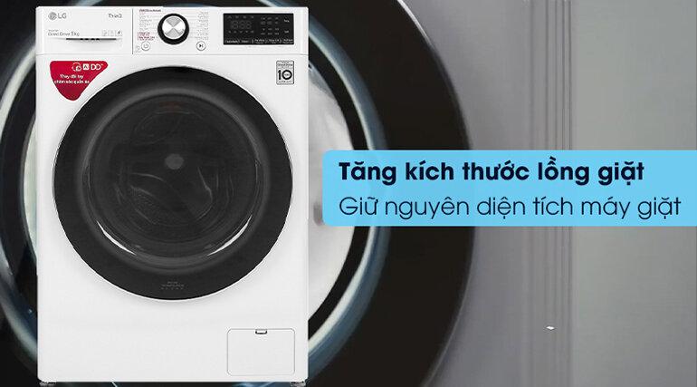 Tăng kích thước lồng giặt mà giữ nguyên diện tích máy giặt