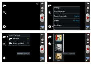 Chuyển đổi chế độ máy quay kết hợp của Galaxy Young S6310
