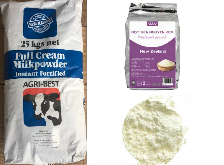 Sữa bột nguyên kem New Zealand