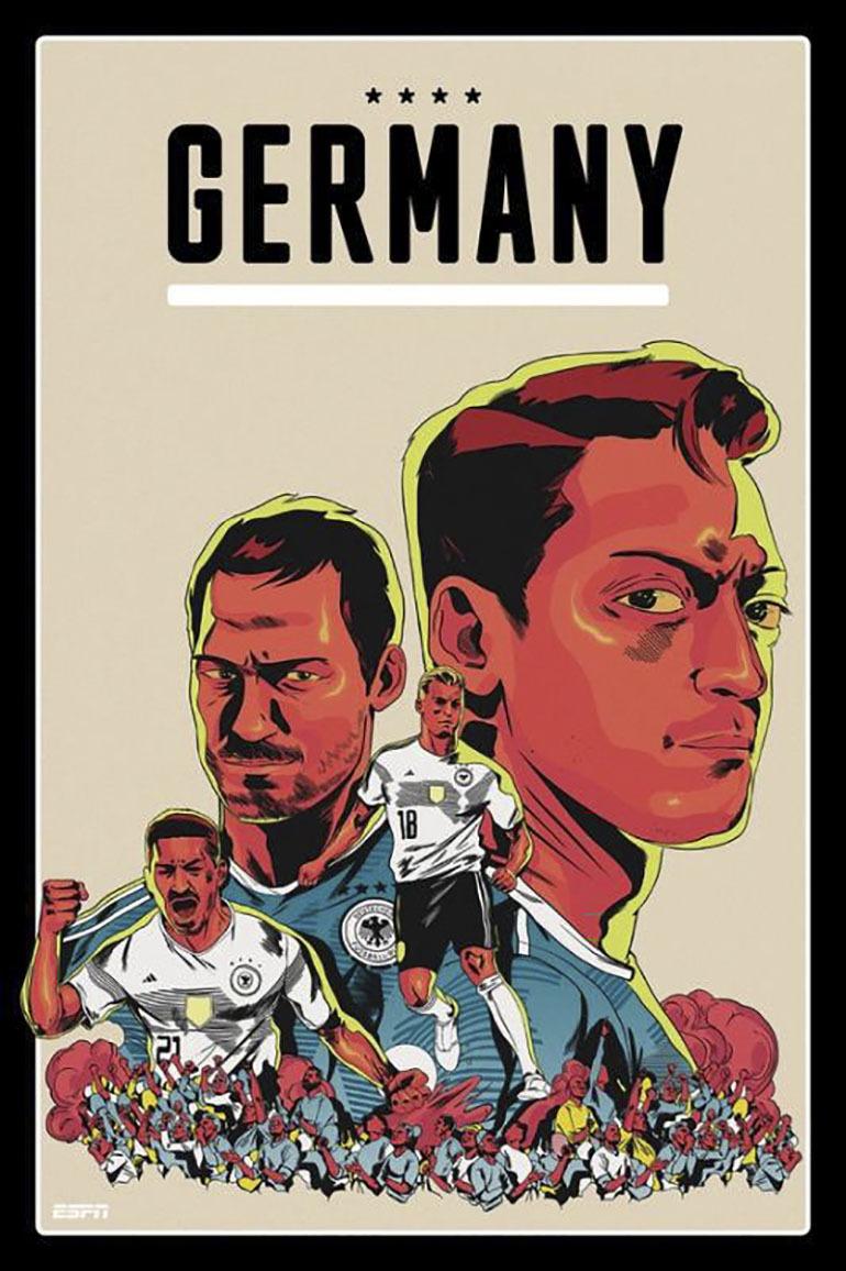 Đội tuyển Đức đương kim vô địch của giải đấu, không có quá nhiều cầu thủ nổi bật, siêu sao hàng đầu thế giới, nhưng đội tuyển Đức vẫn là một sức mạnh không thể cưỡng lỗi bởi sự đoàn kết và tinh thần thép trong mỗi trận đấu đã qua, điều này đã được chứng minh qua rất nhiều năm trước đó