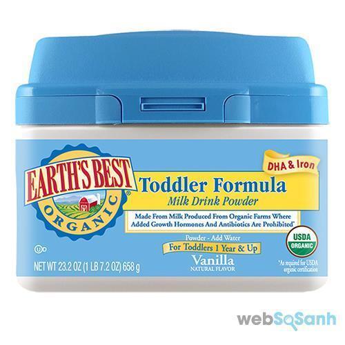Sữa công thức Earth's Best không chứa GMO rất tốt cho sự phát triển của bé