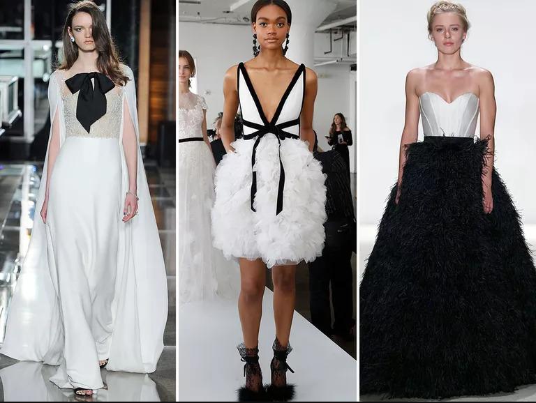 Sự kết hợp giữa hai tone màu cổ điển đen - trắng đã giúp chiếc váy thêm phần ấn tượng