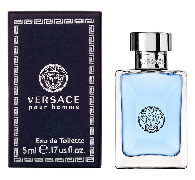 Nước hoa nam Versace Pour Homme màu xanh da trời tinh tế và lịch lãm