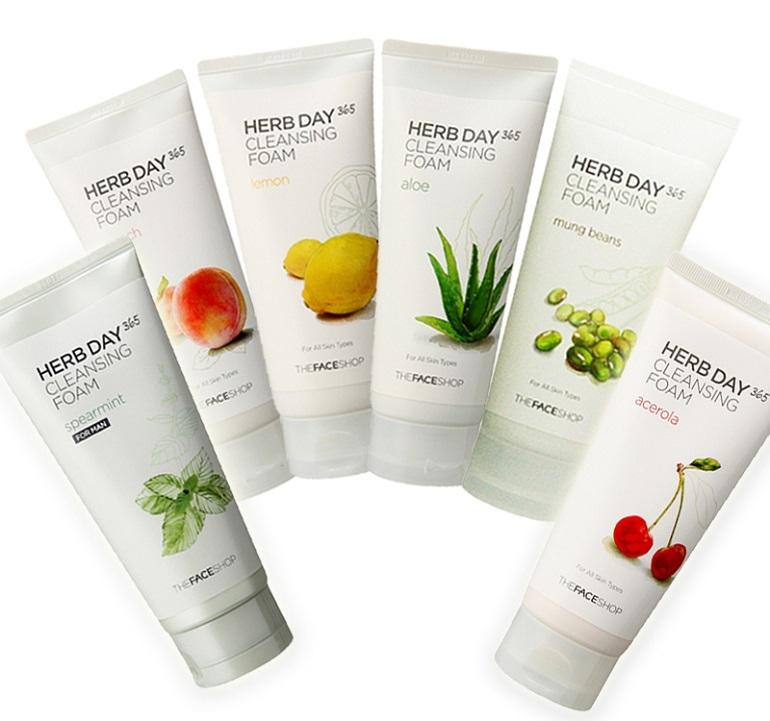 Sữa rửa mặt The Face Shop Herb Day 365 Cleansing Foam Lemon