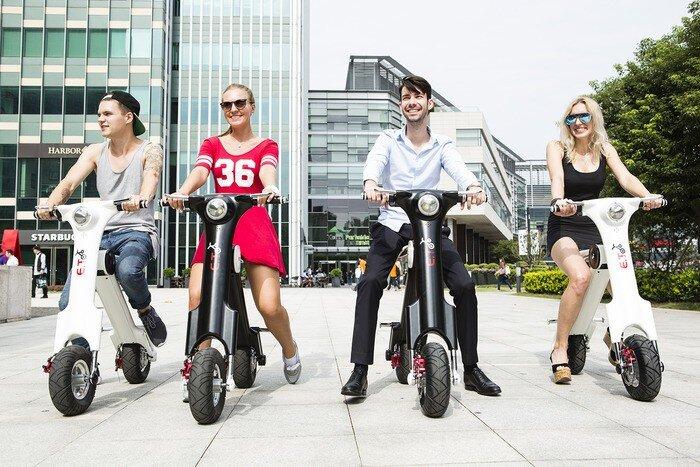 Xe máy có thể gấp gọn – E.T Scooter