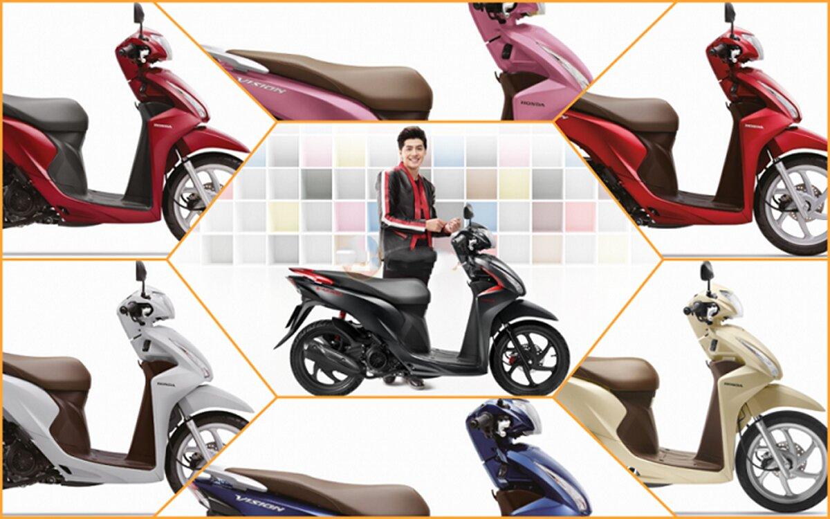 Xe máy Honda Vision 2018 có gì khác so với những phiên bản trước đó?