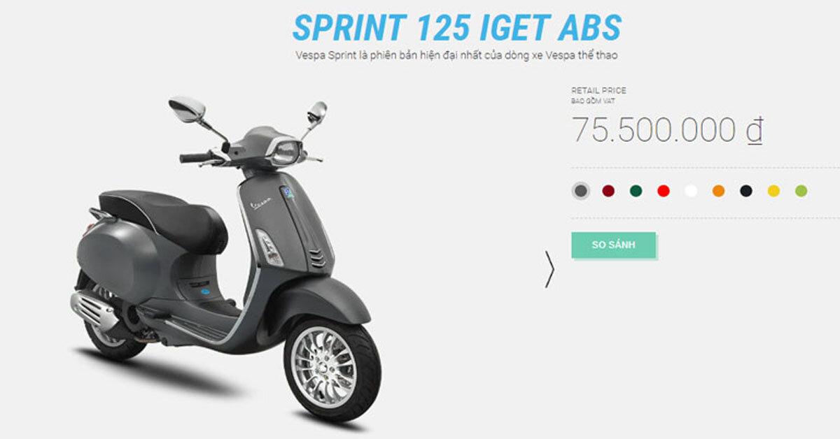 Xe máy Vespa Sprint có những màu sắc nào? Màu nào đẹp nhất