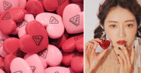 Xem swatch 5 màu son mới tinh 3CE Heart Pot Lip có nhiều màu trendy lại dễ đánh hơn hẳn son dưỡng 3CE Pot Lip giá chỉ 165k