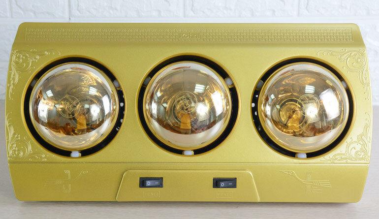 Đèn sưởi phòng tắm Braun Kohn KP03G 3 bóng