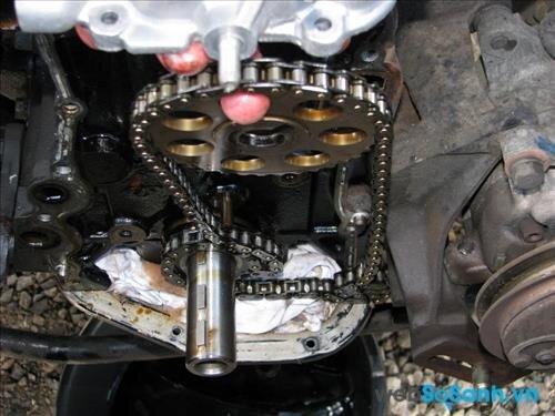 Xích xe máy bị trùng phải làm sao?