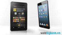 So sánh máy tính bảng Amazon Kindle Fire HD 8.9 và  iPad mini