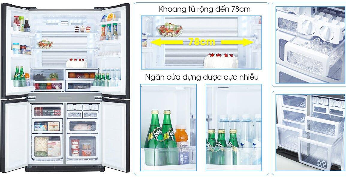 Tủ lạnh thương hiệu Sharp sở hữu thiết kế hiện đại, sang trọng