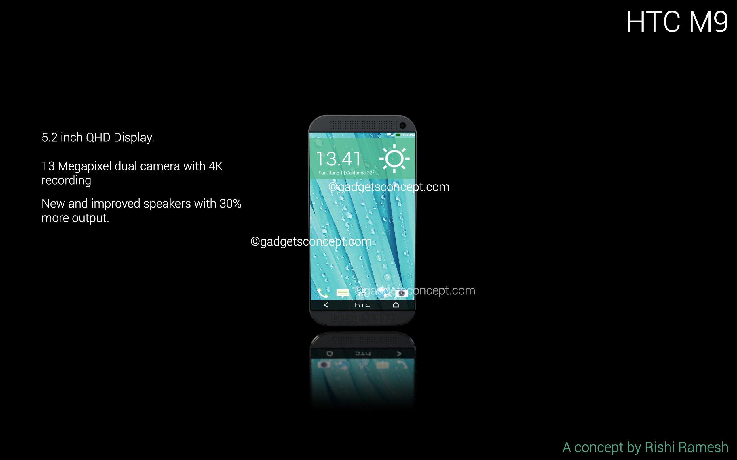 Xuất hiện ý tưởng thiết kế độc đáo của HTC One M9