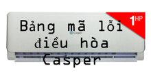 Ý nghĩa bảng mã lỗi trên điều hòa Casper nhập khẩu Thái Lan (cập nhật năm 2019)