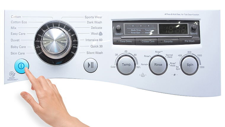 Ý nghĩa các chế độ giặt trên máy giặt LG