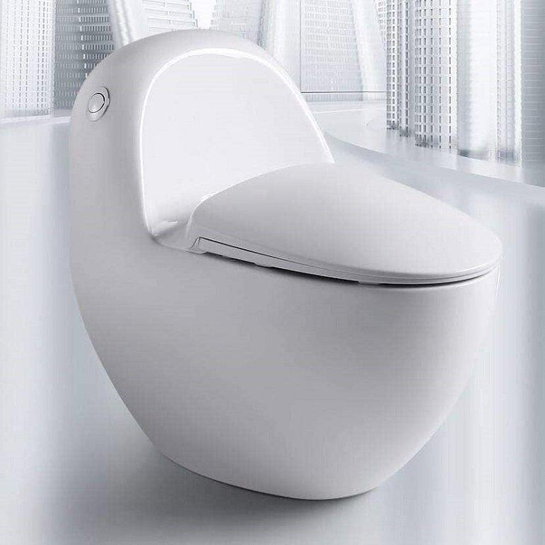 Bồn cầu cao cấp giúp không gian nhà tắm trở nên sang trọng và đẳng cấp hơn