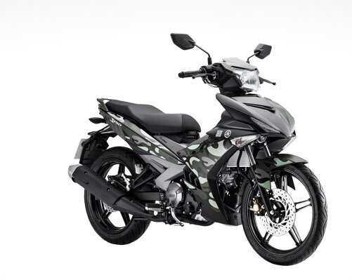 Yamaha Exiter mới lạ trong dàn áo họa tiết quân đội