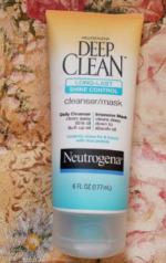 Sữa rửa mặt kiêm mặt nạ Neutrogena Deep Clean Long-Last Shine Control