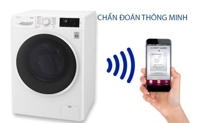 Máy giặt nước nóng LG inverter 8 kg FC1408S4W2
