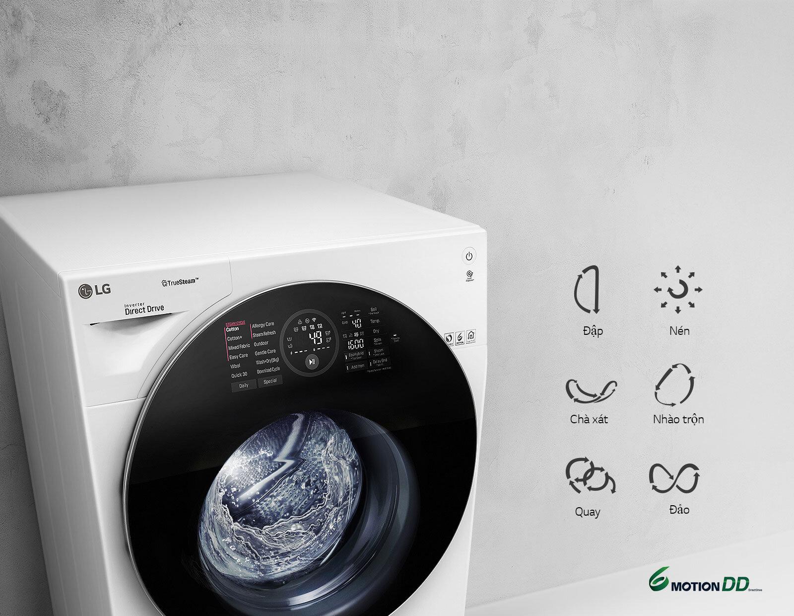 Bảng điều khiển máy giặt LG 9Kg
