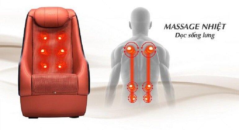 Ghế massage Okia tích hợp nhiều chế độ massage khác nhau