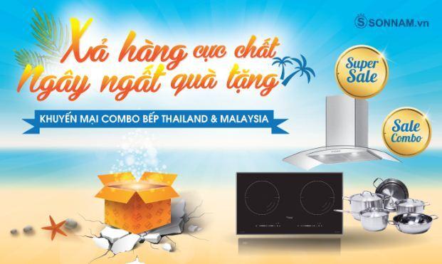 Chương trình combo 2: Khuyến mãi combo bếp Thailand và Malaysia - Xả hàng cực chất ngây ngất quà tặng với 7 lựa chọn