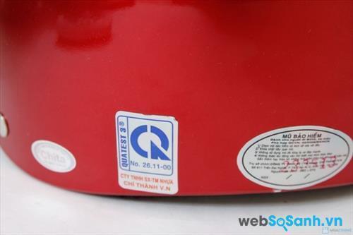 Tem chứng nhận chất lượng mũ bảo hiểm CR