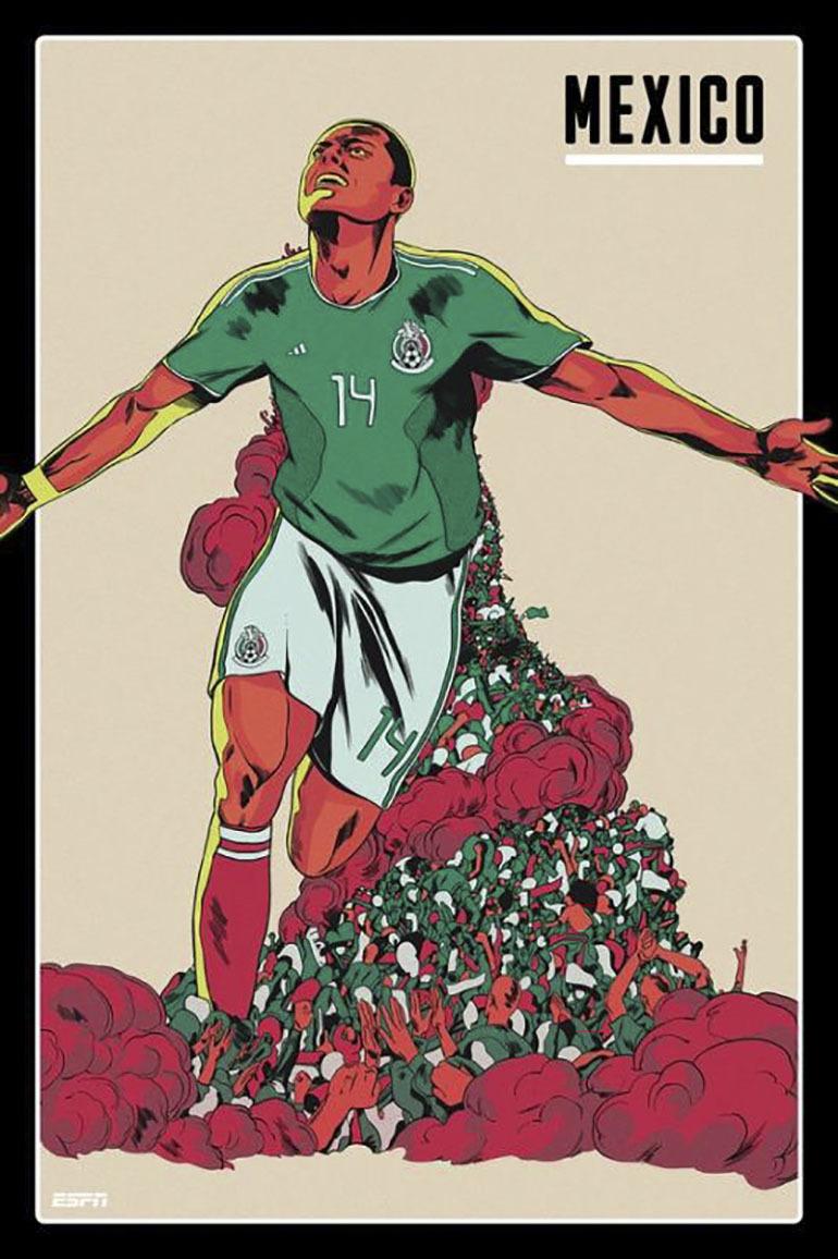 """Đội tuyển Mexico luôn gây ấn tượng bằng những trận đấu đôi công cho dù đối thủ của họ là ai đi chăng nữa, người hâm mộ kỳ vọng rất nhiều ở """"Hạt đậu nhỏ """" Chicharito"""