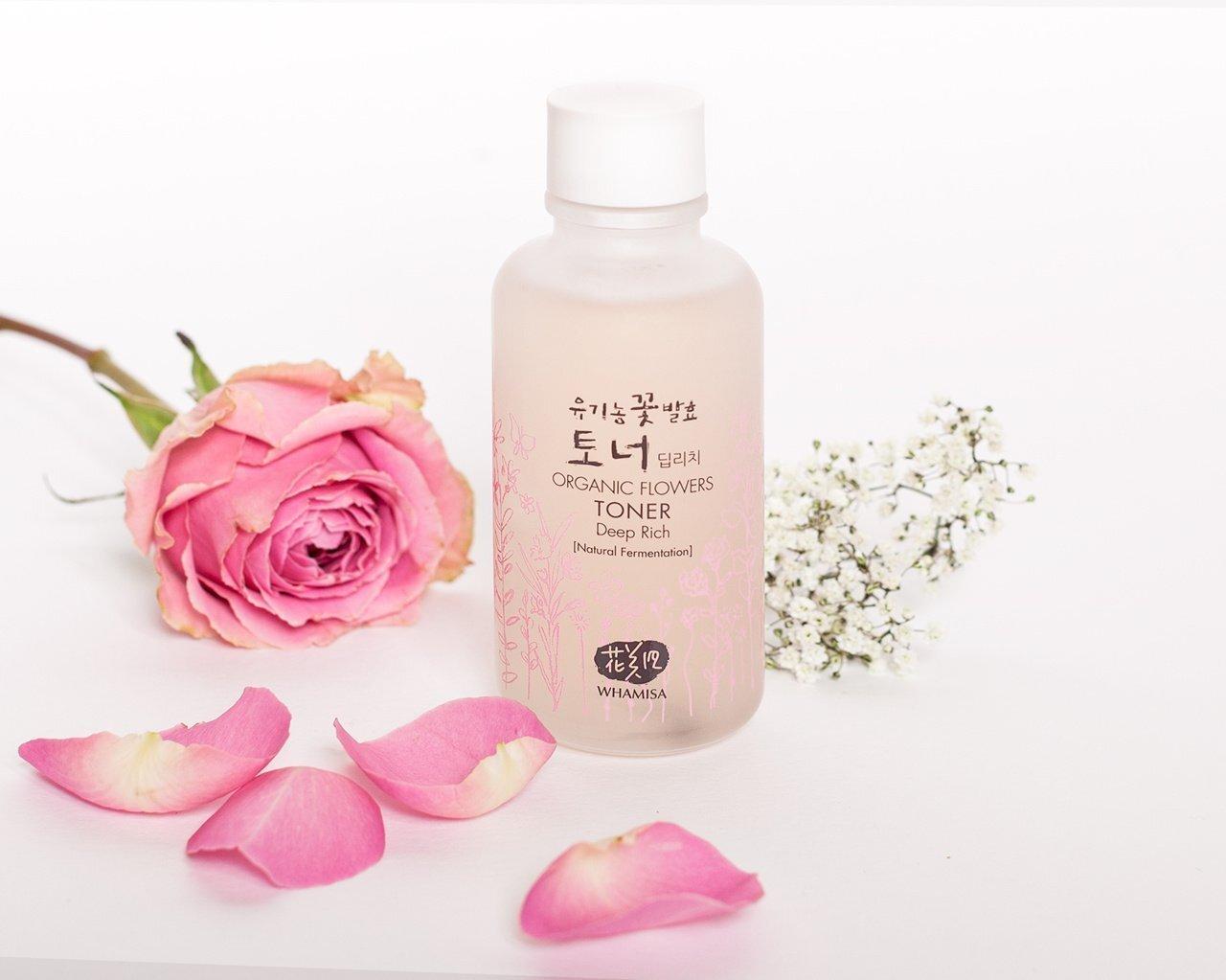 Nước hoa hồng Whamisa Organic Flowers Deep Rich Essence Toner