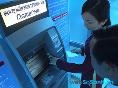 Phí rút tiền tại cây ATM của Agribank là 1,000 đồng/lần giao dịch