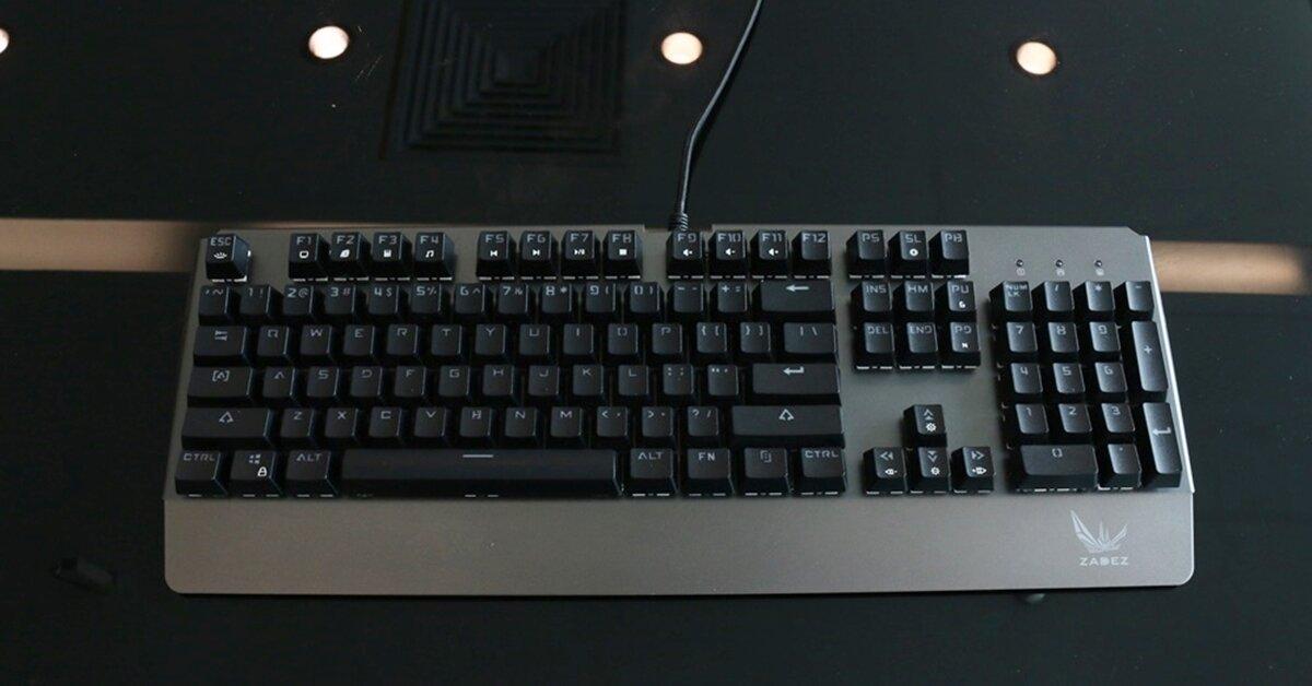 Zadez GT-03K: Phím cơ bình dân thiết kế cứng cáp, gõ chắc tay