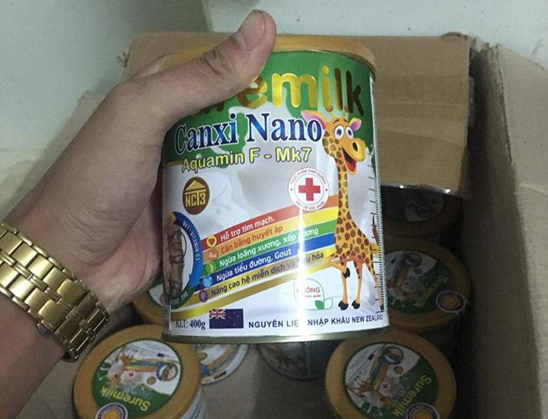 Sữa bột suremilk canxi nano