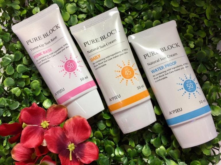 Kem chống nắng A'pieu Pure Block Natural Sun Cream