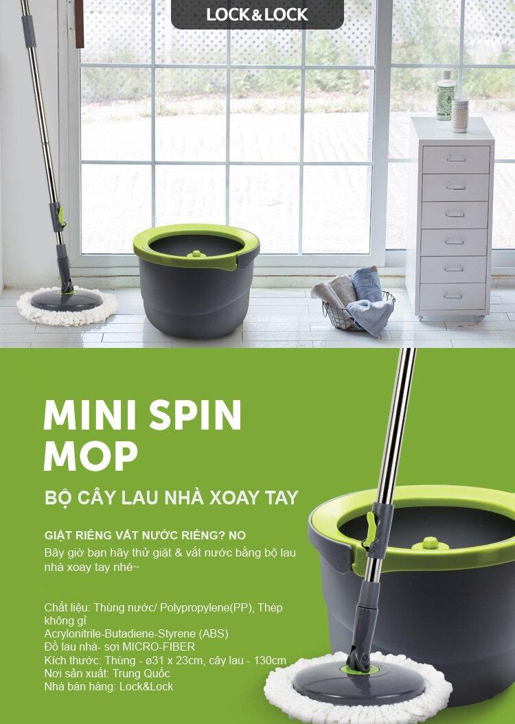 Bộ lau nhà 360 độ mini của Lock&Lock có thiết kế cực kỳ nhỏ gọn