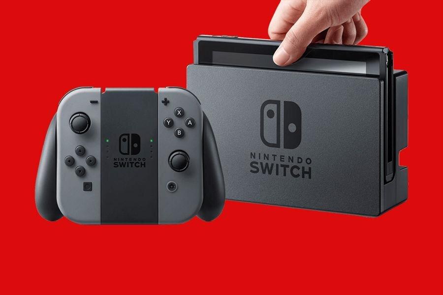 Hình ảnh một bộ máy chơi game Nintendo Switch