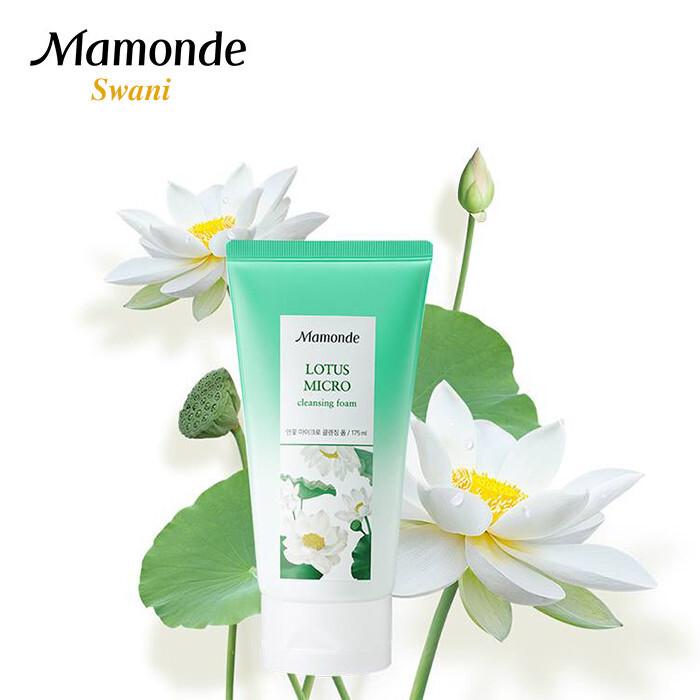 sữa rửa mặt cho da khô nhạy cảm Mamonde Lotus Micro Cleansing Foam
