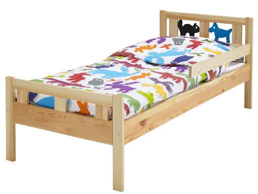 Giường trẻ em 1m2 bằng gỗ