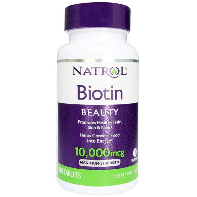 Thuốc uống kích thích mọc tóc Natrol Biotin
