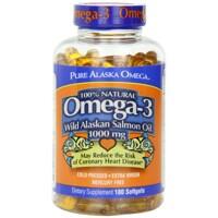 Viên bổ sung Omega 3, DHA, EPA giúp não phát triển từ dầu cá hồi tự nhiên Pure Alaska Omega 3 180 viên