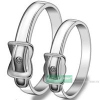 Nhẫn đôi Bạc Hiểu Minh NC049 - Bên nhau