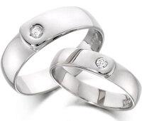 Nhẫn bạc đôi Love love love