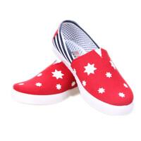 Giày Lười Hàn Quốc họa tiết ngôi sao màu đỏ S-GL20