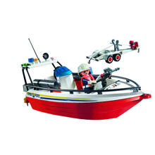 Mô hình Fire Boat Trailer Playmobil 4823