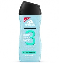 Sữa tắm gội nam Adidas Extra Fresh 3 trong 1