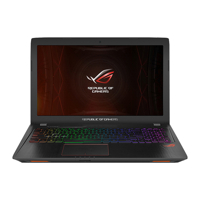 Laptop Gaming Asus ROG Strix GL553VD-FY175 - Intel Core i5-7300HQ, RAM 8GB, HDD 1TB, Intel VGA NVIDIA GTX1050 4GB, 15.6 inches